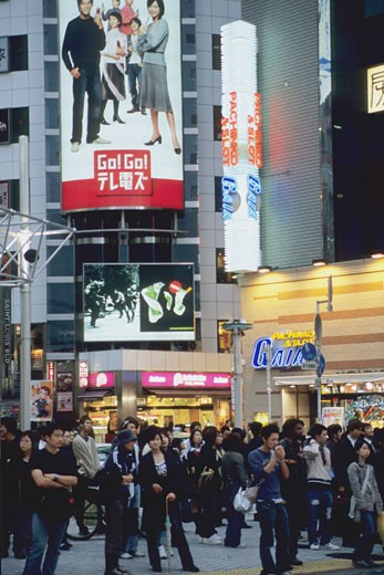 Japan, Tokyo, Shibuya district, street scene : Stock Photo