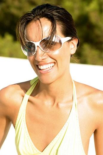 Portrait woman smiling : Stock Photo