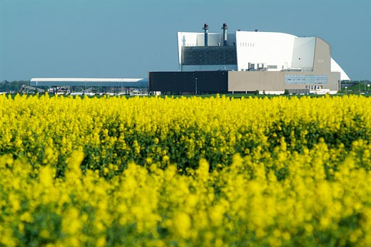 Stock Photo: 1606-34979 Around Ouarville, sewage works, colza field