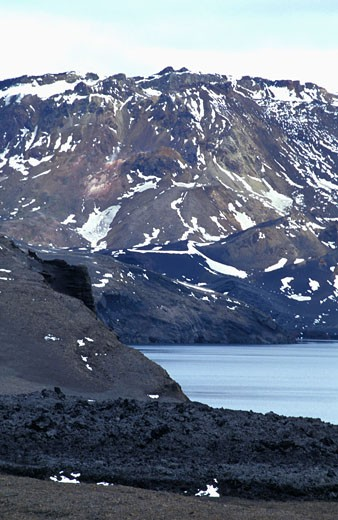 Stock Photo: 1606-37329 Islande, caldeira du volcan Askja, lac Oskjuvatn