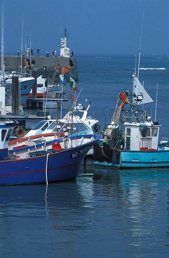 85. Ile de Noirmoutier, port de pêche de l'Herbaudière : Stock Photo