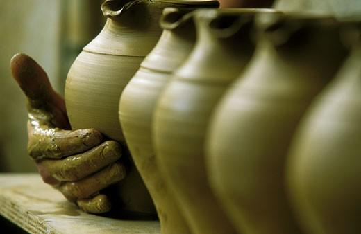 France, Provence, Bouches du Rhone, Aubagne, poterry, handicraft : Stock Photo