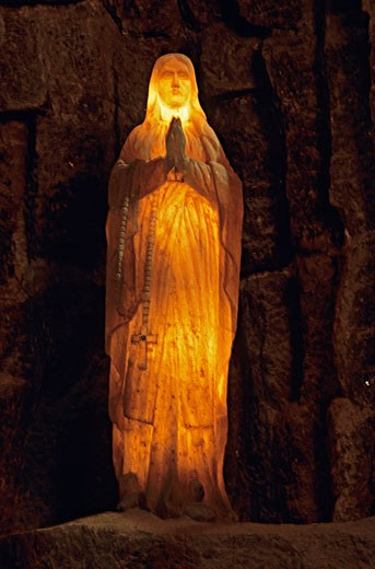 Poland Wieclizka, salt mine, salt virgin illuminated : Stock Photo