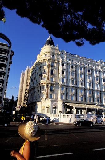 France, French Riviera, Cannes, Carlton hotel on Croisette boulevard : Stock Photo
