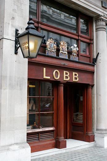 United Kingdom, England, London, St James's Street, John Lobb's store : Stock Photo