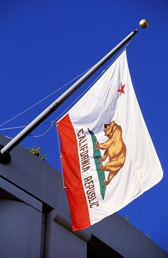 Stock Photo: 1606-43252 United States, California, San Francisco, Californian flag