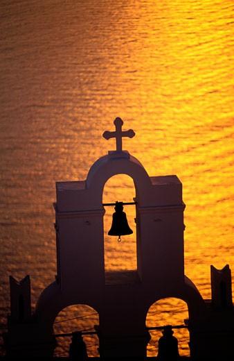 Stock Photo: 1606-43311 GREECE, CYCLADES ARCHIPELAGO, SANTORINI ISLAND, CHURCH OF FIROSTEFANI VILLAGE