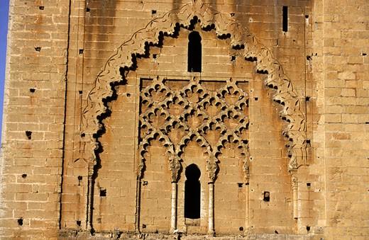 Stock Photo: 1606-44595 Morocco, Rabat, Mohamed V mausoleum detail