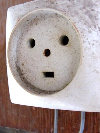 Close-up of socket : Stock Photo