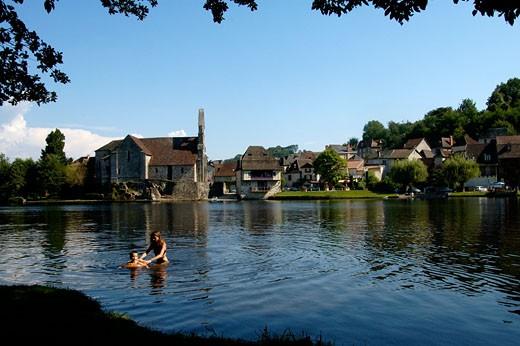 France, Limousin, Corrèze, Beaulieu sur Dordogne, chapel of the Penitents : Stock Photo