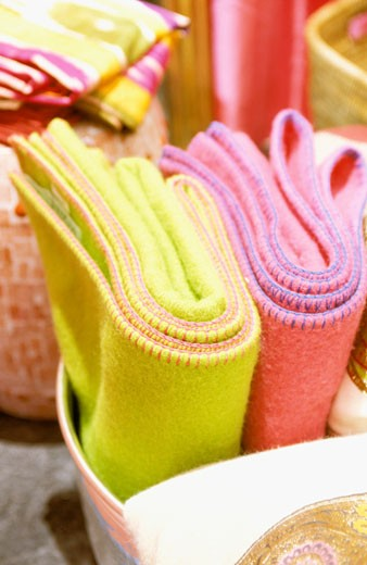 Stock Photo: 1606-45859 Still life of two blankets