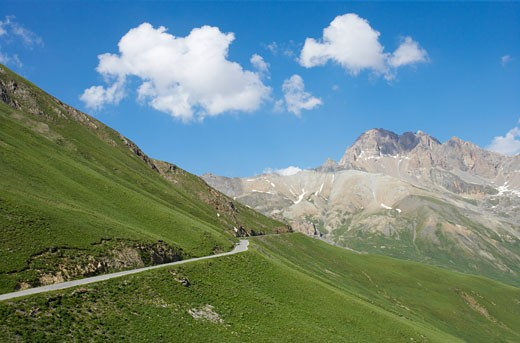 Stock Photo: 1606-46549 France, Hautes Alpes, in summer, Galibier road, mountains