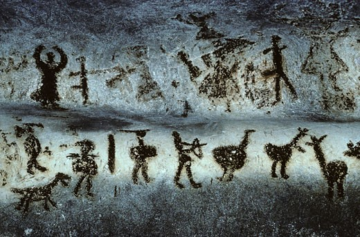 Stock Photo: 1606-46759 Bulgaria, Magura, prehistoric paintings