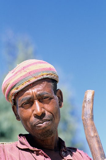Stock Photo: 1606-46822 North Ethiopia, portrait of an amhara man