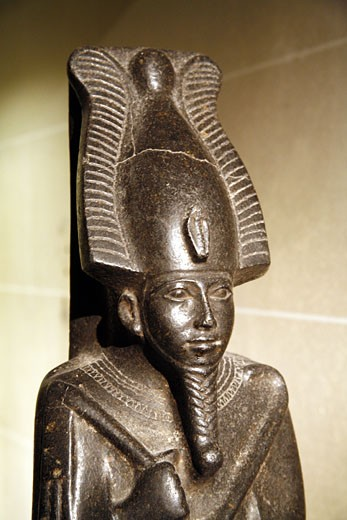 France, Paris, Louvre museum, Osiris statue : Stock Photo