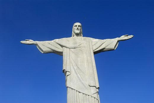 Brazil, Rio de Janeiro, Corcovado, statue of Christ the Redeemer : Stock Photo