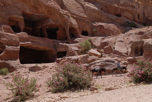 Stock Photo: 1606-48564 Jordan, Petra, royal tombs