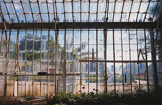 Stock Photo: 1606-48616 France, Burgundy, Saone et Loire, Palinges, Digoine castle, greenhouse