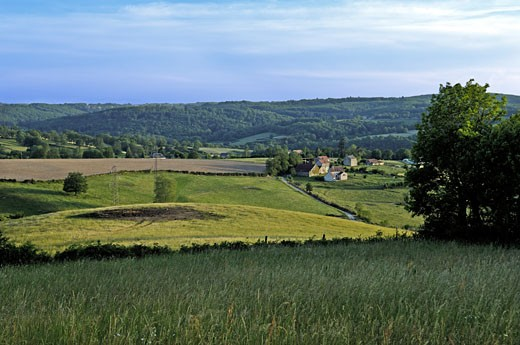 France, Limousin, Creuse, scenery near Aubusson : Stock Photo