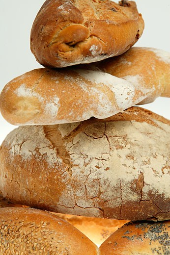 Stock Photo: 1606-49398 Still life, different types of breads