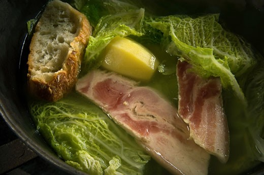 Close up of cabbage soup : Stock Photo