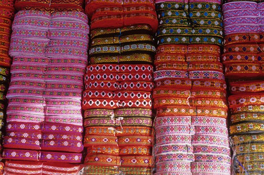 Stock Photo: 1606-51803 Vietnam, North-West district, Bac Ha market, typical belts