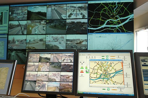 Stock Photo: 1606-52427 France, Pays de la Loire, Loire Atlantique, Nantes, road-traffic command post