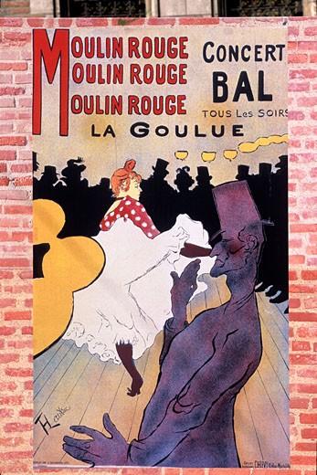 Stock Photo: 1606-52605 France, Midi-Pyrénées, Tarn, Albi, Toulouse-Lautrec museum, poster by Toulouse-Lautrec