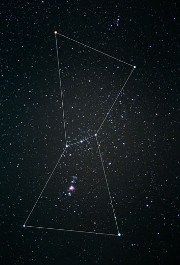 Orion constellation : Stock Photo