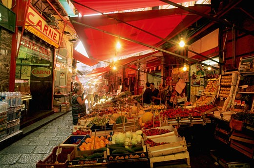 Stock Photo: 1606-53242 Italy, Sicily, Palermo, market