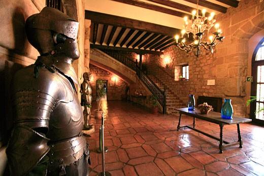 Espagne, province de Guadalajara (Communaute autonome de Castilla La Mancha) : le Parador de Siguenza (chateau medieval du XII eme siecle) : Stock Photo
