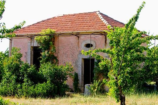 Stock Photo: 1606-55016 Deserted house and garden
