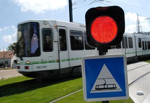 Stock Photo: 1606-55198 France, Pays de la Loire, Loire-Atlantique, Orvault, tramway