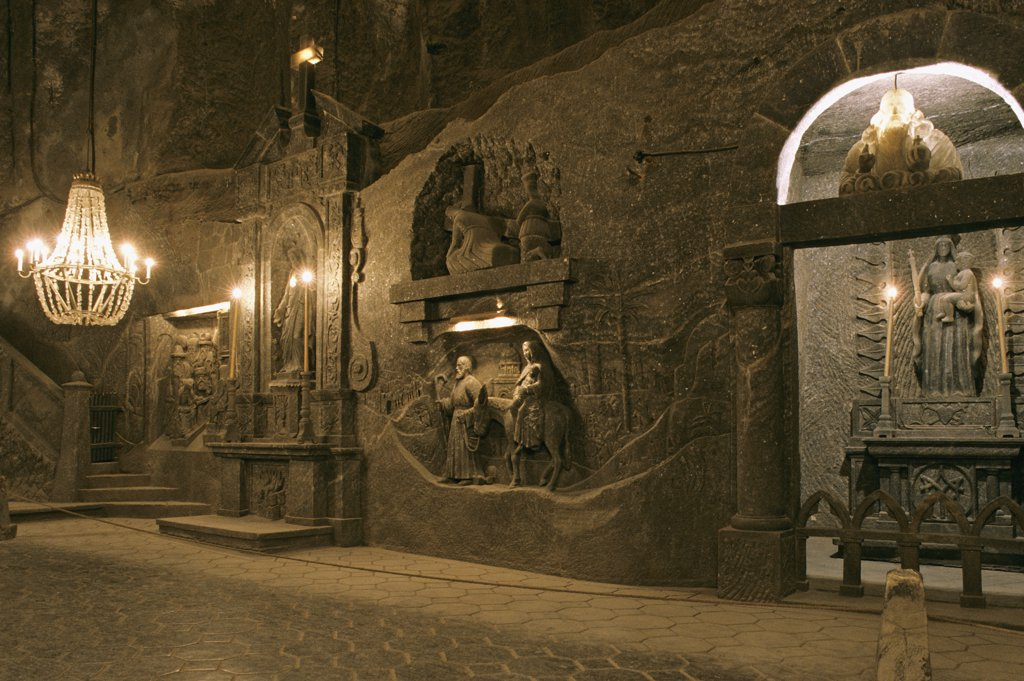 Stock Photo: 1606-56949 Poland, Krakow, Wieliczka salt mine