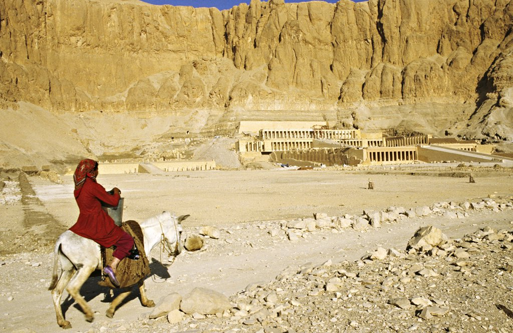 Stock Photo: 1606-57278 Egypt, Thebes, Deir el Bahari, Hatchepsut temple
