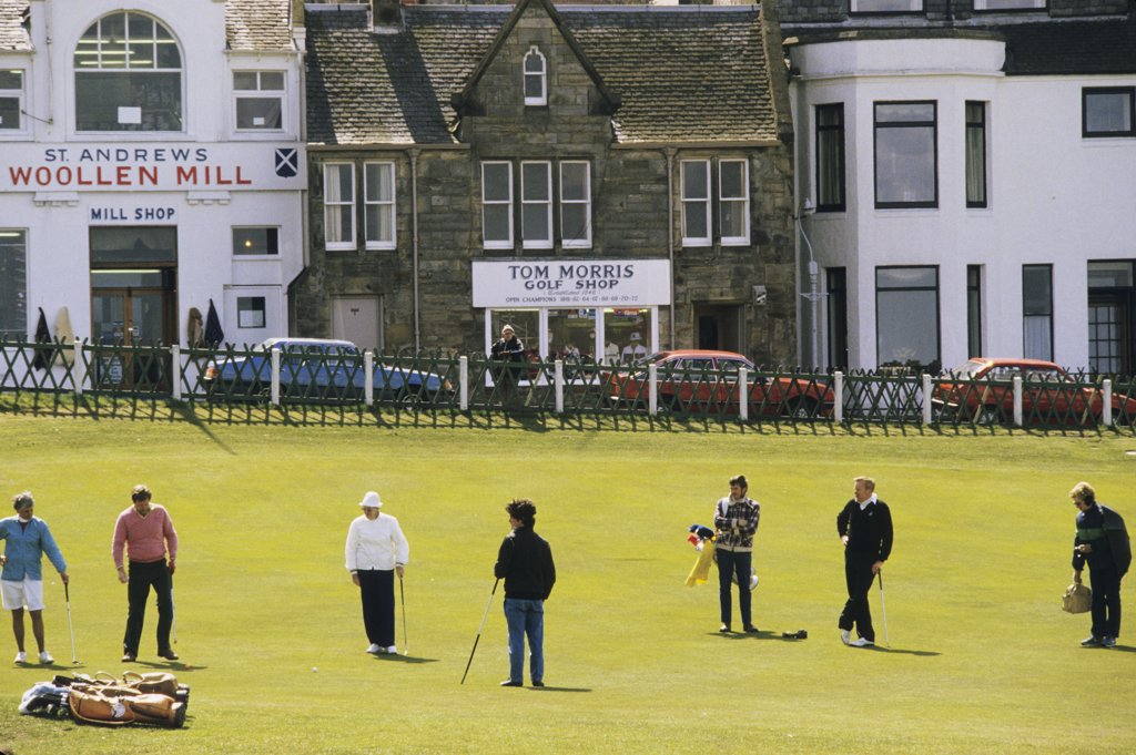 Great Britain, Scotland, Fife, St Andrews golf, players : Stock Photo