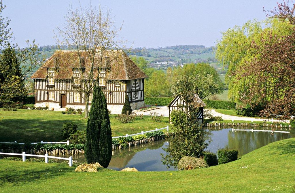 Stock Photo: 1606-57415 France, Normandy, Calvados, Livarot district, Petit Moncel manor