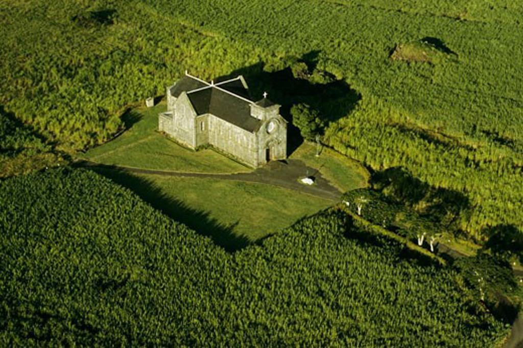 Mauritius island, Salette church, aerial view : Stock Photo