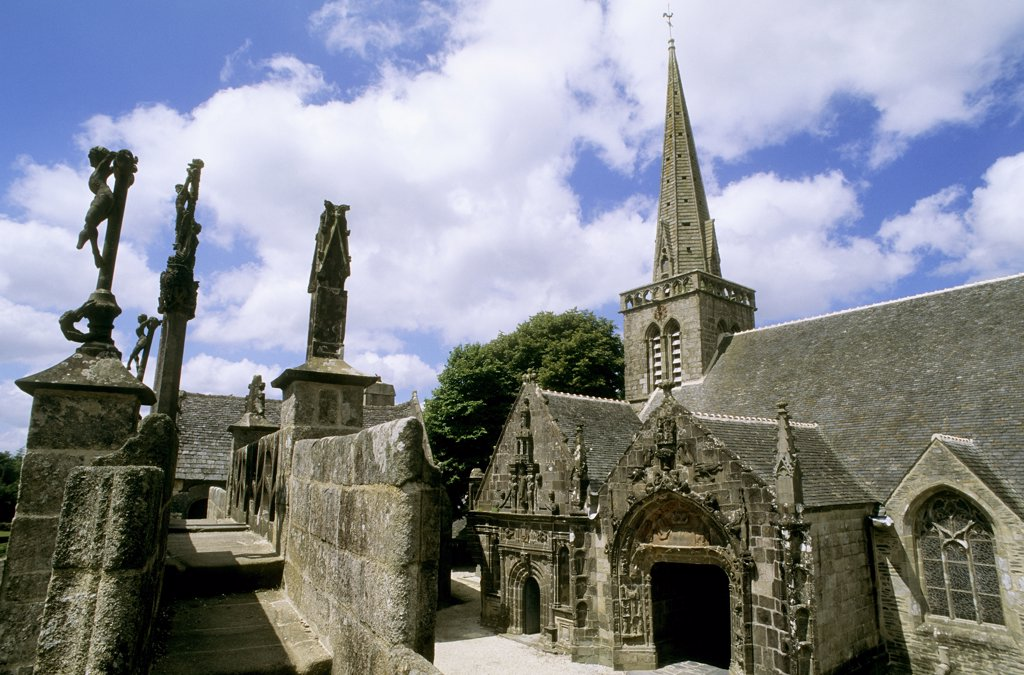 Stock Photo: 1606-57823 France, Brittany, Finistere, La Martyre, church
