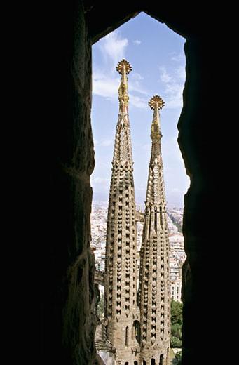 Spain, Catalonia, Barcelona, Sagrada Familia : Stock Photo