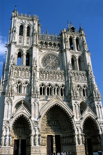 France, Picardie, Somme, Amiens, Amiens cathedral, 13th century (Unesco World Heritage) : Stock Photo