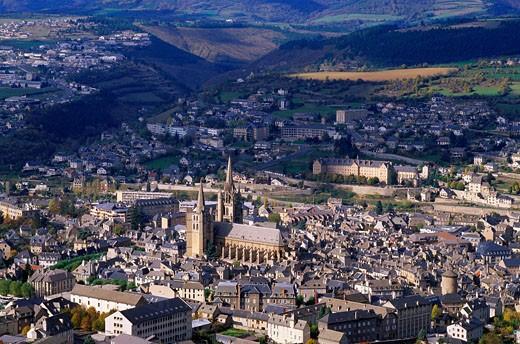 France, Languedoc-Roussillon, Lozère, Mende : Stock Photo