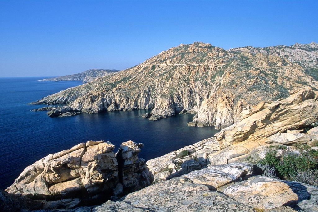Stock Photo: 1606-62184 Upper Corsica, wild coast near Calvi
