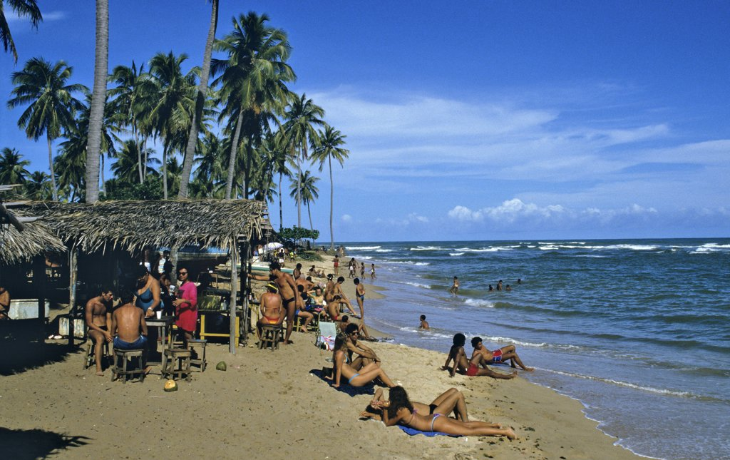 Stock Photo: 1606-63815 Brazil, Bahia State, Praia do Forte, beach
