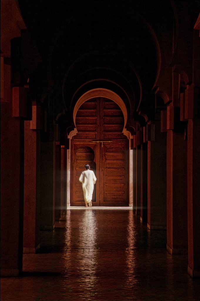 Morocco, Marrakech, Amanjena hotel(architect Ed Tuttle) : Stock Photo