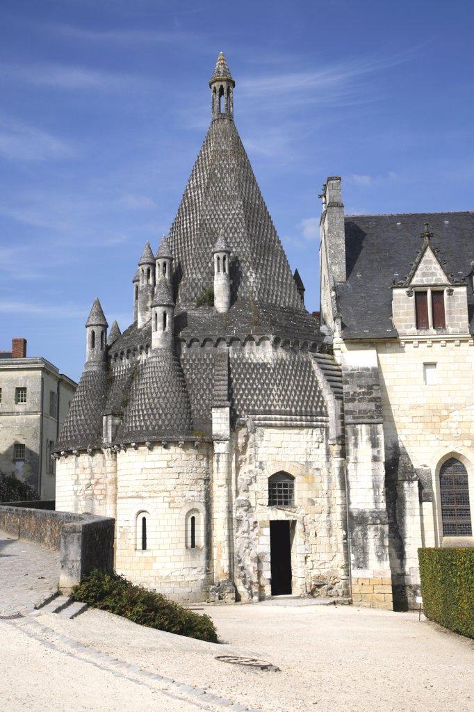 Stock Photo: 1606-65376 France, Maine et Loire, Anjou, Fontevraud-l'Abbaye, royal abbey, romanesque kitchen (12th century)