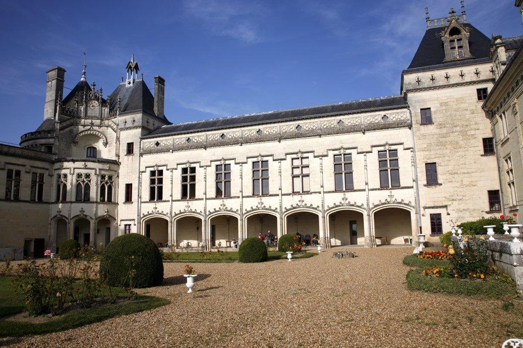 France, Maine et Loire, Anjou, Brézé castle : Stock Photo