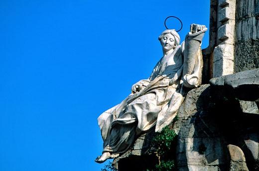 "Stock Photo: 1606-65820 Spain, Andalusia, Cordoba, the ""Triunfo of San Rafael"" near the roman bridge"