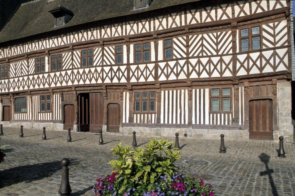 France, Normandie, Haute Normandie, Seine Maritime, Saint-Valery-en-Caux, Henri IV house (16th century) : Stock Photo