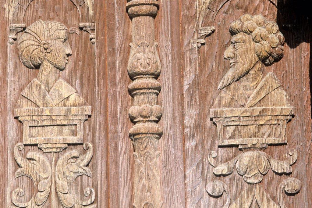 Stock Photo: 1606-66816 France, normandie, haute normandie, Seine Maritime, Saint-Valery-en-Caux, Henri IV house (16th century)